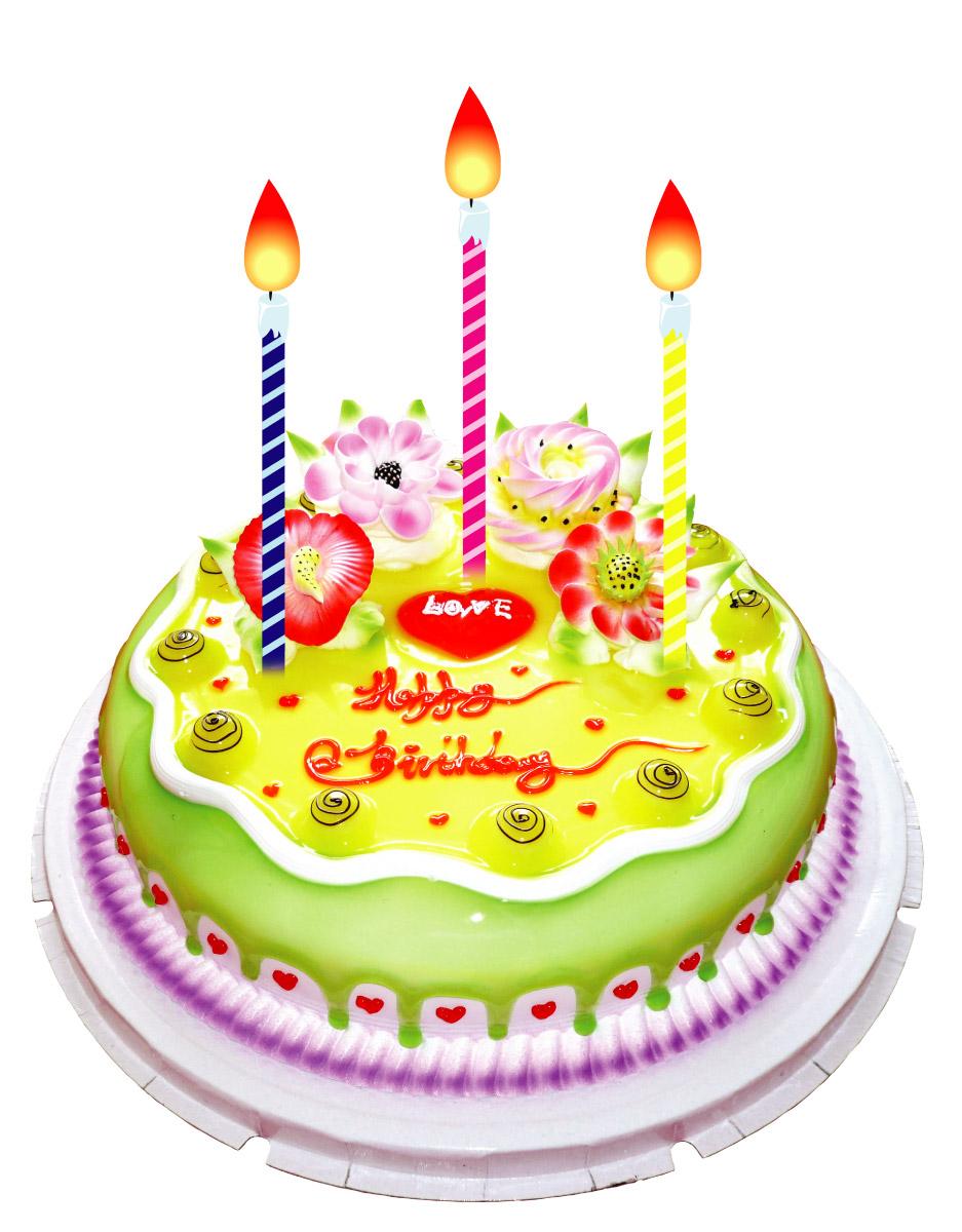 Новый, картинки торт со свечами 3 года